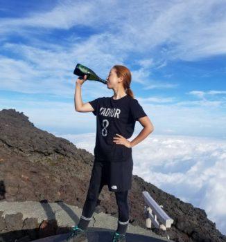 日本で1番高い山、富士山にエンリケ登頂成功